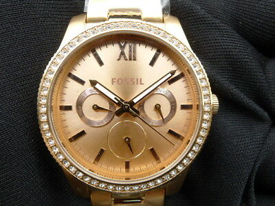 e506d9109 New Old Stock-FOSSIL SCARLETTE ES4315 -Rose Gold Tone Stainless Steel Lady  Watch