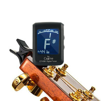 Black CT-03B Chromatic Guitar Bass Ukulele LCD Digital Tuner Capo Clip On TH1034