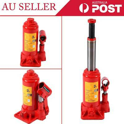 Pro 3 8 Ton Red Hydraulic Bottle Jack Lift Automotive Repair Tool 4WD Safety Hot