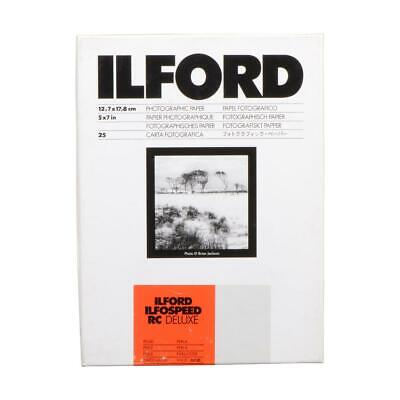 "Ilford Ilfospeed RC Deluxe Resin Coated Black  White Enlarging Paper - 5x7""-25"