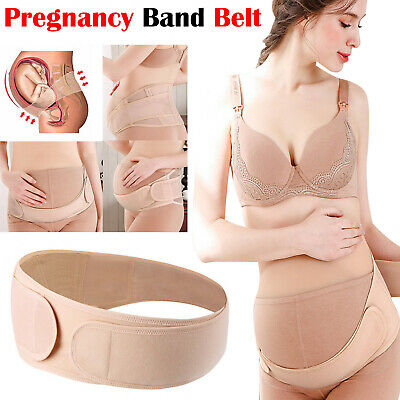 Maternity Pregnancy Belt Lumbar Back Support Waist Band Belly Bump Brace Uk
