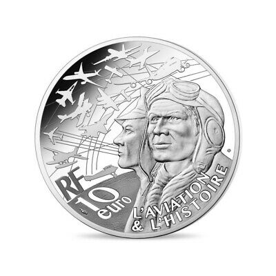 10 Euro Silver Commemorative coin France 2019 '' Loocked P-38 '' BE Proof