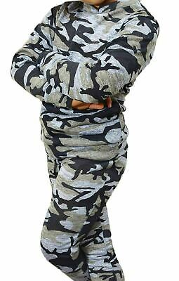 Kids & Girls Camouflage Print Lounge 2 Piece Set Tracksuit Jogging Suit Age 4-12