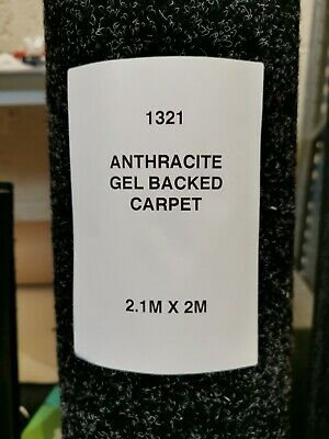 Anthracite  contract gel backed carpet flooring roll end  2.10  x  2m  1321