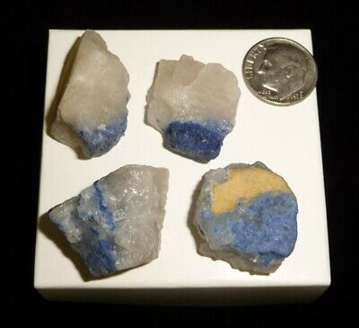 Dumortierite Quartz Specimens 36 grams Brazil Crystal Display Reiki