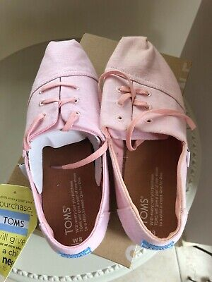 Brand New Toms pink canvas shoes