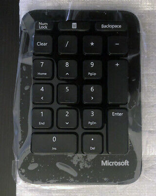 43336a14e85 MICROSOFT 1558 WIRELESS Key Numeric Keypad Black - $14.99 | PicClick