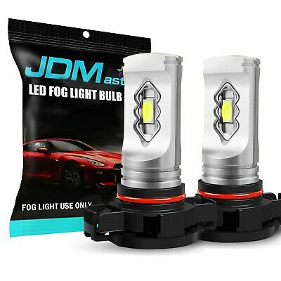 JDM ASTAR 2x 8000K Ice Blue PSX24W 2504 LED DRL Fog Driving Light Bulbs 1600LM