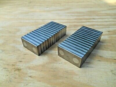 """Shars 4/"""" L X 2/"""" W X 1/"""" H Magnetic Transferring Chuck Matched Pair Parallel New"""