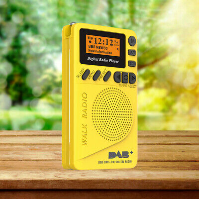 Portable Pocket Personal DAB/DAB + FM Digital Radio Rechargeable Battery UK I8W1