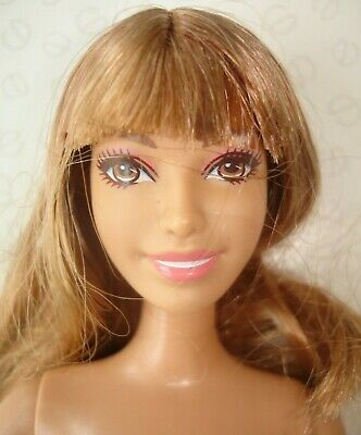 Barbie Fashionistas Brunette Doll with Fringe Fully Articulated Body & Flat Feet
