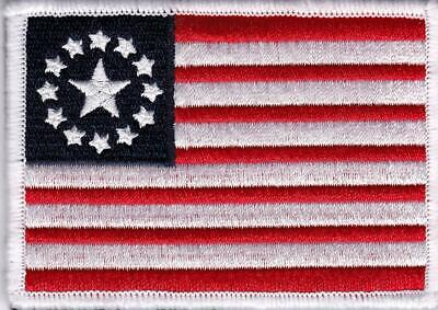 "Betsy Ross Colonial Flag Patch cosplay 2.5""x3.5"" inches Fallout-like Pre-War"