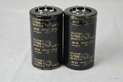 "2 PC Nichicon KG ""Gold Tune"" Audio 18000uF 71V Electrolytic Capacitors"