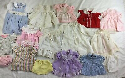 Vintage baby Clothes lot of 13 Sold As Is