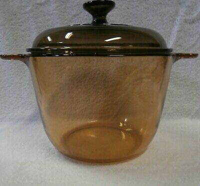 Vision Corning Ware France 3.5L Dutch Oven Amber Color