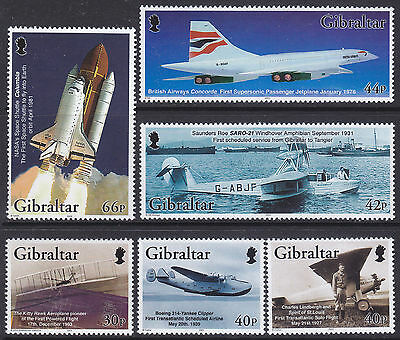 Powered Flight Space-Lindbergh-Concorde-Yankee Clipper Mnh (6)