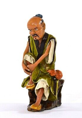 1930's Chinese Shiwan Pottery Mudman Mud Man Figure Figurine - AS IS