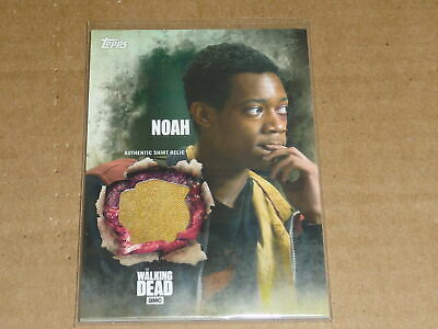 2016 Topps THE WALKING DEAD SEASON 5 NOAH SHIRT RELIC SWATCH E3251