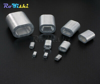 Aluminum Cable Crimp Sleeve Cable Ferrule Stop for Snare Wire Rope Clip Swag WC