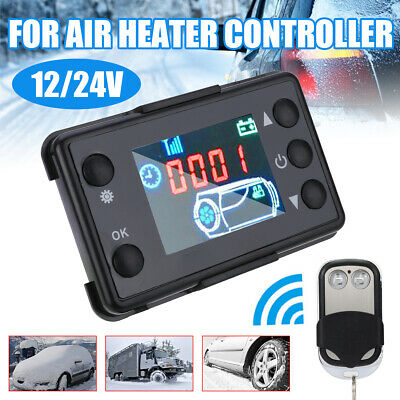 12V/24V LCD Monitor Switc &Remote Control Car Diesel Air Heater Controller US