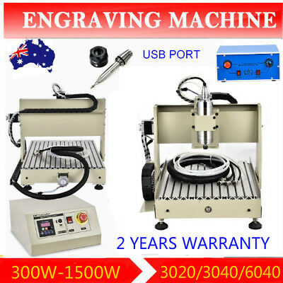 3/4 Axis 3020 3040 6040 CNC Router Machine USB Milling + Drilling VFD 3D Carving