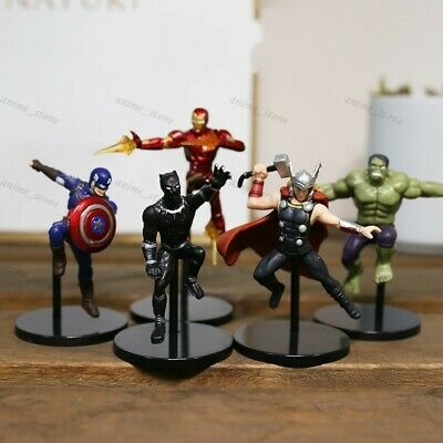 Anime 5pcs/set The Avengers PUTITTO Heros Mini Figure New Toy No Box 5cm
