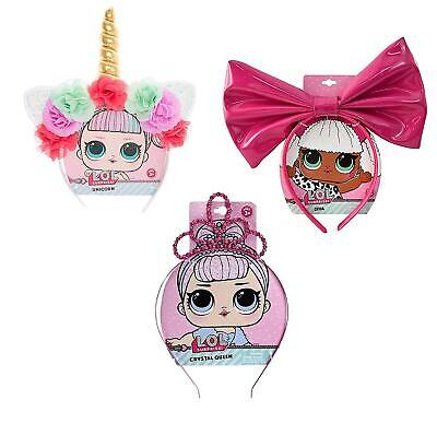 L.O.L. Surprise Headbands 3-Pack LOL Unicorn Crystal Queen Diva MGA CHOP