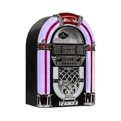 Jukebox Musikbox Stereoanlage UKW Radio USB MP3 CD Player Bluetooth LED Effekt
