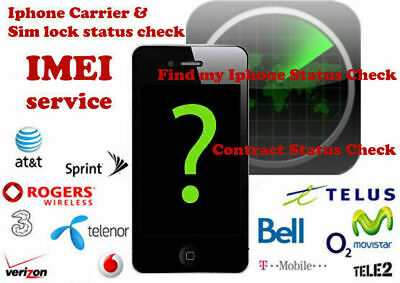 Apple iPhone iPad IMEI Check Carrier SIMLOCK FMI Status Fast Checker