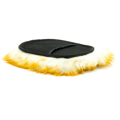 Sheepskin Lambswool Wash Mitt Pad Soft Long Wool Car Washing Glove Sponge