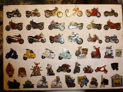 rare COLLECTION HUGE LOT PINS BADGE MOTORCYCLE 200 motos motard biker for seller