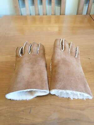Vintage Real Sheepskin Tan M/L Gloves