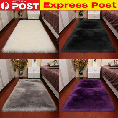 Super Soft Large Sheepskin Rugs Faux Wool Fluffy Plush Fur Rug Carpet Fur Mat AU