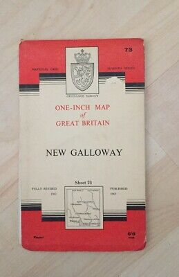 1965 Vintage OS Ordnance Survey One-inch Seventh Series Map No. 73 NEW GALLOWAY