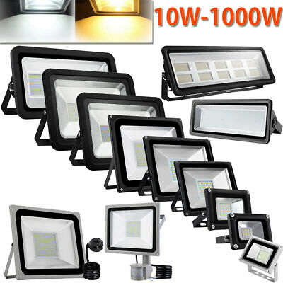 10W-1000W LED Flood Light SMD/ PIR Motion Sensor/ AU Plug IP65 Floodlight 240V