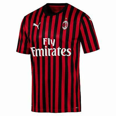 Puma Official Mens AC Milan Authentic Home Football Shirt Jersey Top 2019-20