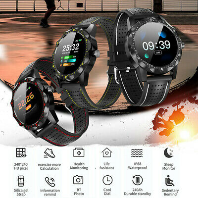 Waterproof Heart Rate Blood Pressure Fitness Tracker Android IOS Smart Watch