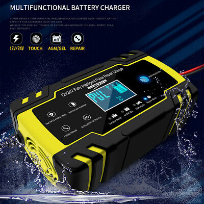Car Battery Charger ~ Portable 13.8-27.6V Turbo / Trickle, Vehicle Motorbike