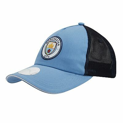 Puma Official Unisex Manchester City FC Mesh Football Fans Cap Hat Light Blue