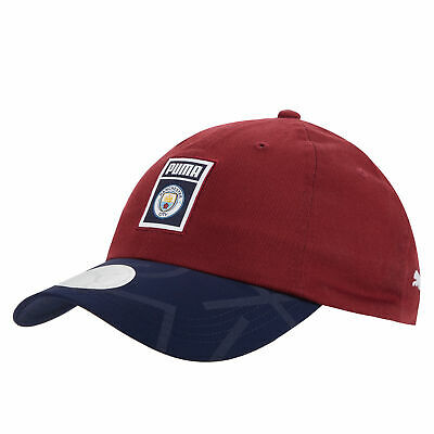 Puma Official Unisex Manchester City FC Archive DNA Football Fans Cap Burgundy