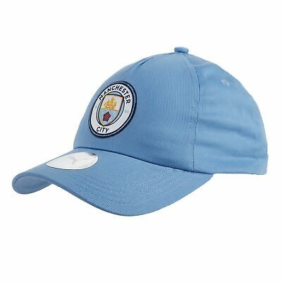 Puma Official Unisex Manchester City FC Football Team Cap Hat Light Blue