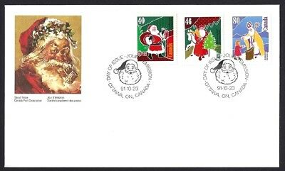 Canada  # 1339 - 1341 Combo     CHRISTMAS  PERSONAGES      New 1991 Unaddressed