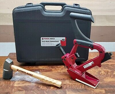 Porta Nailer Gun with Mallet In Plastic Case