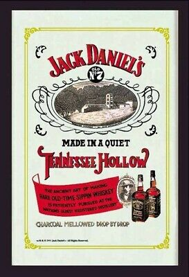 Quadro a specchio JACK DANIEL'S N 7 Made in a Quiet Tennesse Hollow Whiskey