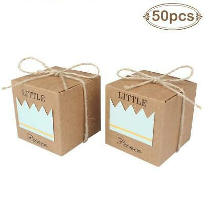 24 Little Prince Or Princess Crown Favor Boxes Baby Shower Birthday
