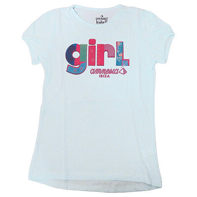OFFICIAL Amnesia Ibiza Kids T-shirt Patchwork Girls Sky Baby Blue Youth Child