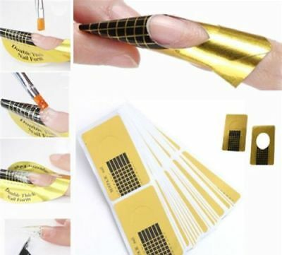 Nail Art Form Sticker Self-adhesive Extension Guide Acrylic Tips UV Gel #HN