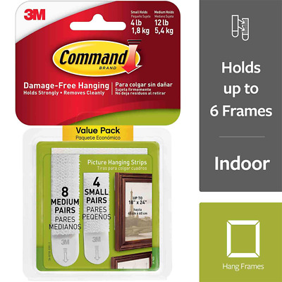 Command™ Small and Medium Picture Hanging Strips 17203-ES