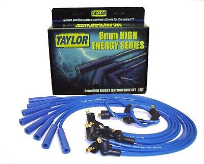 Taylor Cable 64671 High Energy 8 mm Ignition Wire Set Resistor Core in Blue