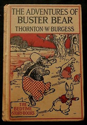 Bedtime Story-Book ADVENTURES OF BUSTER BEAR Thorton Burgess Harrison Cady (1936
